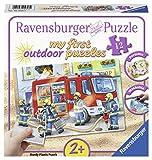 Ravensburger Kinderpuzzle 05613 Ravensburger 05613-my First Puzzles Outdoor: Die Feuerwehr saust herbei-Kinderpuzzle
