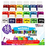 Best US Art Supply Kid Art Supplies - U.S. Art Supply 18 Color Children's Washable Tempera Review