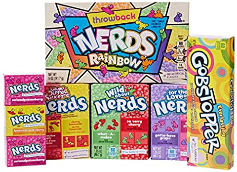 Just Treats Wonka Atomic American Candy Gift: Jam Packed with Great USA Candy. Great Christmas Present, Birthday Gift, Get Well Soon, Congratulations or Anniversary. Gift Ideas For Him and Her: Boys & Girls, Mums & Dads, Men & Women of All Ages
