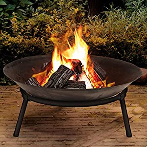 Cast Iron Garden Fire Pit Heater Bow Log Charcoal Burner - Various Sizes Available
