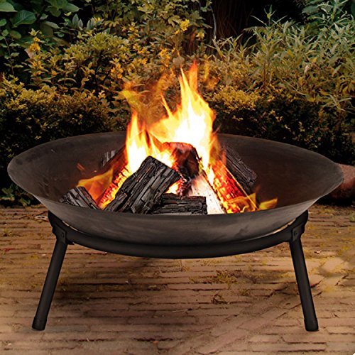 Cast Iron Garden Fire Pit Heater Bow Log Charcoal Burner