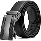Fathers day gifts BOSTANTEN Men's Leather Ratchet Dress Belt with Automatic Sliding Buckle