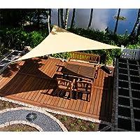 Bakaji cortina a vela Parasol triangular 3,6 metros toalla ombreggiante para patio terraza jardín
