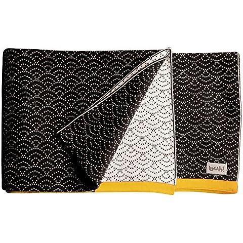 Buh!-Coperta in puro cotone lavorato a maglia, design B And W Mostaza Collection, 80 X 100 Cm)