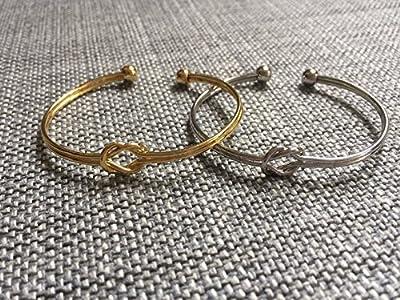 Bracelet jonc Noeud entrelacé doré ou argenté