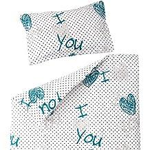 9d2a8dd87a32a I love you - Pati Chou 100% Coton Linge de lit pour bébé (