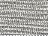 ab 1m: Viscose Mousseline, grafische Muster, hellgrau,