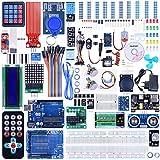 Quimat Kit Compatible con Arduino IDE Más Completo y Avanzado con Tutorial, Placa UNOR3, Placa de Expansión, LCD1602, HC-SR501, Sensor Ultrasónico HC-SR04 con Soporte (69 Artículos)