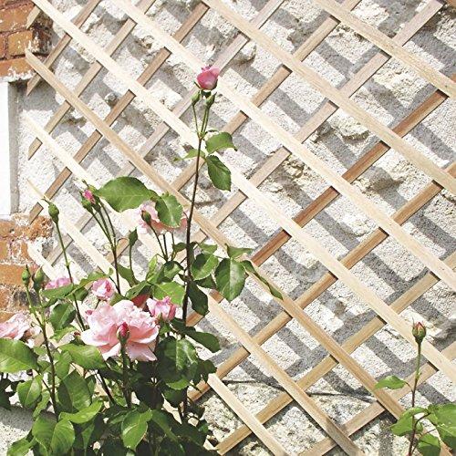 intermas 170221 Celosía de Madera Marrón 25x2x100 cm