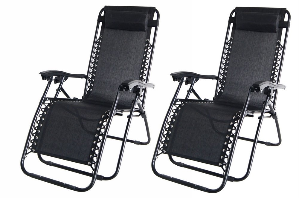 2x Palm Springs Zero Gravity Garden Chairs Lounge/Outdoor Yard Patio Chair Black Amazon.co.uk Garden u0026 Outdoors  sc 1 st  Amazon UK & 2x Palm Springs Zero Gravity Garden Chairs Lounge/Outdoor Yard ... islam-shia.org
