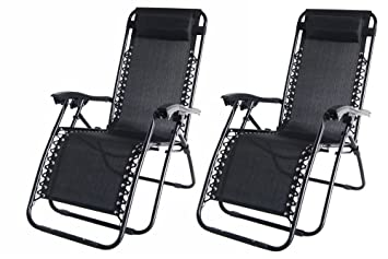 2x Palm Springs Zero Gravity Garden Chairs Lounge/Outdoor Yard Patio Chair Black Amazon.co.uk Garden u0026 Outdoors  sc 1 st  Amazon UK : zero gravity recliner uk - islam-shia.org