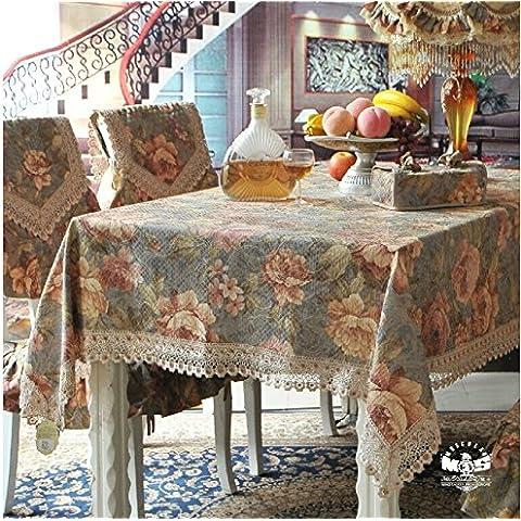 LJQ European-style tabella panno tessuto/ tavolo/ comodino tovaglioli/Frigorifero Lavatrice panno/Piazza/grande