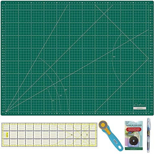 Kit Patchwork alta calidad Base corte Verde 60x45