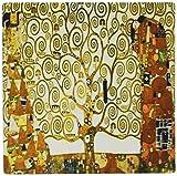 3drose LLC 20,3x 20,3x 0,6cm Maus Pad, ein Foto von Klimt Bild Der Baum des Lebens (MP _ 100417_ 1)