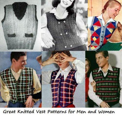 Grandes patrones de chaleco de punto para hombres y mujeres por Unknown