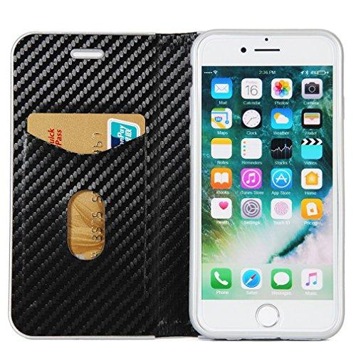 Fischschuppenmuster Neu Hochwertige Kohlefaser automatische Saug-Schnalle Hülle Case ,TPU + Leder Cover Full Body Schutz für iphone5,iphone 5s,iphone se Golden Schwarz