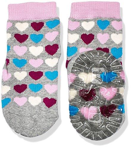 Sterntaler Baby-Mädchen Socken Fli Fli Air Herzen, Grau (Silber Melange 542), 24