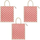 DUSSLE DORF Jute Bags for Lunch | Jute Bags with Zip | Jute Tote Bag | Jute Tiffin Bags | Printed Jute Bag | Jute Carry Bag