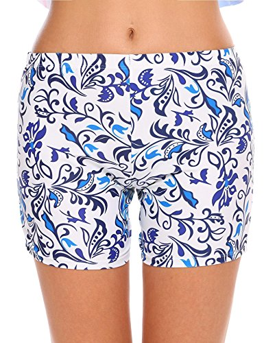 Ekouaer Damen Badeshort Gr. X-Large, weiß / - Swim Womens Shorts Plus