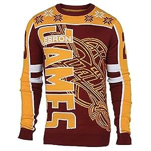 Cleveland Cavaliers Lebron James # 23ras du cou NBA Ugly Sweater