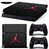 Generic Basketball Red Logo Cover Decal PS4 Skin Sticker for Sony Play Station 4 Console & 2 Controller Skins