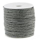 SiAura Material 100m Jutekordel/Juteschnur grau 1mm