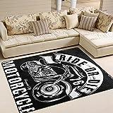 ingbags Super Weich Moderner Motorrad, ein Wohnzimmer Teppiche Teppich Schlafzimmer Teppich für Kinder Play massiv Home Decorator Boden Teppich Matte und Teppiche 160x 121,9cm, multi, 80 x 58 Inch