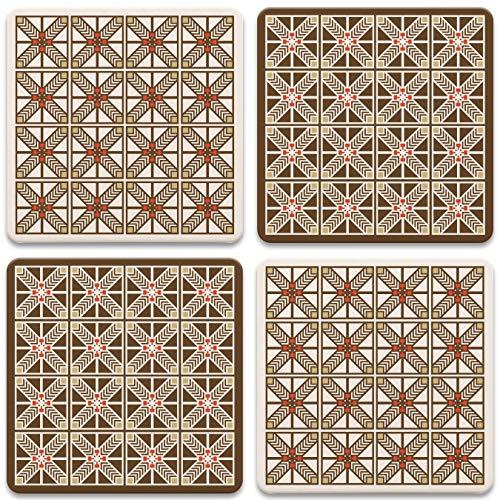 CoasterStone AS751 Untersetzer Frank Lloyd Wright Robie, Einheitsgröße, mehrfarbig, 4 Stück - Möbel Untersetzer Unternehmen
