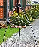 Korono Schwenkgrill stabiles Teleskopgestell 200 cm & Rost 70 cm Pulver-beschichtetes Stahl - Gartengrill für alle Feste