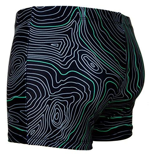 GUGGEN MOUNTAIN Maillot de bain pour homme serre raye *High Quality Print* Vert