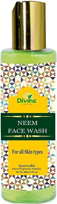 Divine India Ayurevda India Neem Face Wash, 200ml