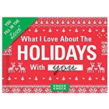 Knock Knock What I Love About Spending the Holidays with You Fill in the Love Journal by Knock Knock (2016-08-20)