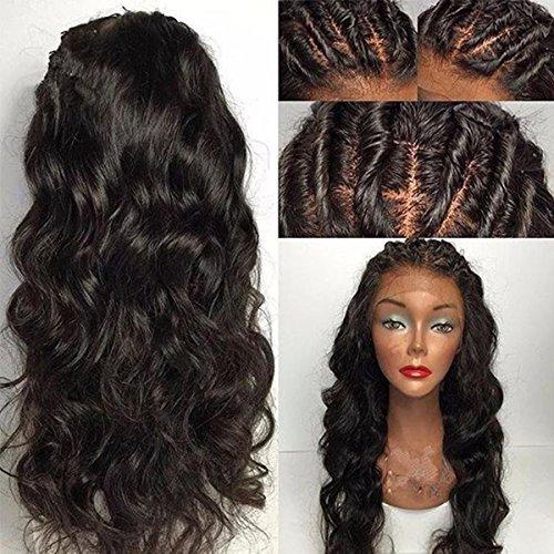 Maycaur brésilien ondulés perruque 180Densité Cheveux synthétiques Perruque lace front Cheveux ondulés Perruques