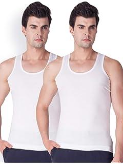 LUX VENUS Men's Solid Vest  Pack of 2