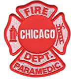 Chicago Fire Dept. Paramedic patch (Ärmelabzeichen, 8 x 9,5 cm)