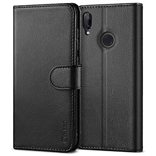 Vakoo PU-Leder Handyhülle für Xiaomi Redmi Note 7 Hülle, Brieftasche Schutzhülle für Xiaomi Redmi Note 7/Note 7 Pro/Note 7S Handytasche Case - Schwarz