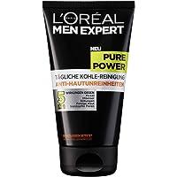 L'Oreal Men Expert Pure Power tägliche Kohle-Reinigung, Bekämpft Hautunreinheiten (Mitesser, Akne und Pickel), ohne austrocknen, Porenverfeinernd (1 x 50 ml)