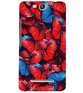 Fuson Premium Butterflies Printed Hard Plastic Back Case Cover for Micromax Canvas Juice 3 Q392