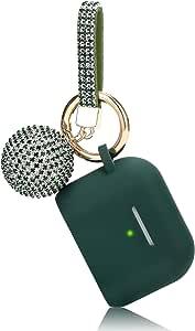 Airpods Hülle Filoto Airpod Pro Case Cover Für Apple Airpods Pro Wireless Charging Case Cute Airpods 3 Case Silikon Zubehör Schlüsselanhänger Ring Disco Ball 2019 Winter Midnight Green Elektronik