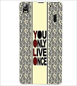 PrintDhaba Quote D-3354 Back Case Cover for LENOVO A7000 PLUS (Multi-Coloured)