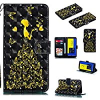 Ocamo For Samsung J6 (2018) European Version 3D Coloured Painted PU Clasp Wallet Stand Phone Case With Lanyard