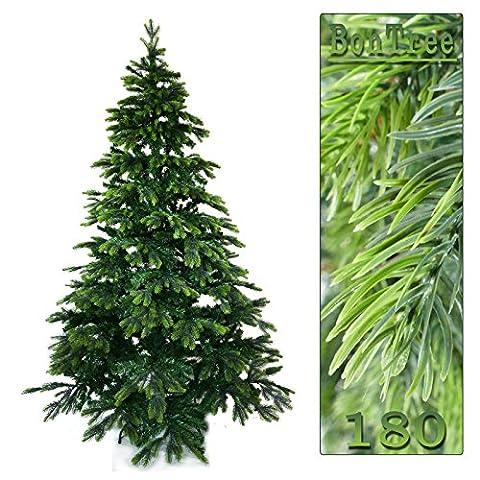 Künstlicher Tannenbaum 180 cm BonTree Tanne Weihnachtsbaum PE/PVC-Mix