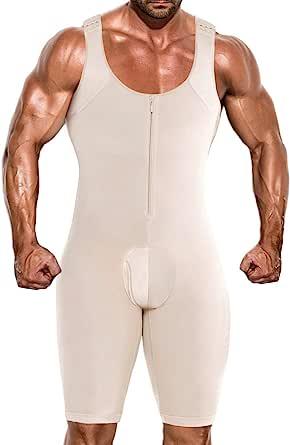 Men Shapewear Full Body Shaper Compression Slimming Tummy Control Bodysuit
