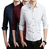 #5: Blue Sea Men's Printed Branded cotton Casual shirts(Combo of 3)