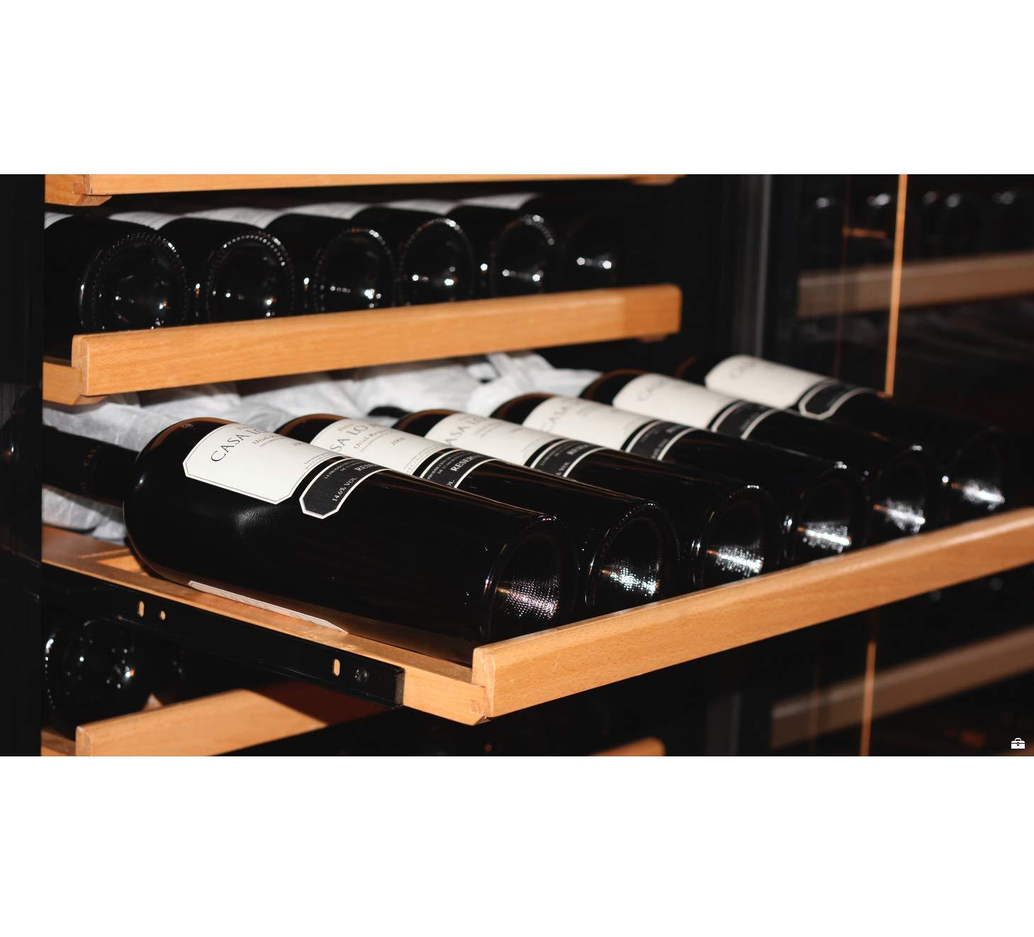 SWISSCAVE-2-Zonen-Weinklimaschrank-f-210-Fl-Inkl-Lieferung-auf-Stockwerk-D-Weinkhlschrank-mit-Winterheizfunktion