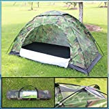 Diswa Rainproof Waterproof Sunproof Picnic Hiking 4 Person Camouflage Tent with Carry Bag