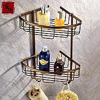 KHSKX Bronzo imitazione asciugamano da bagno stile rack asciugamano da