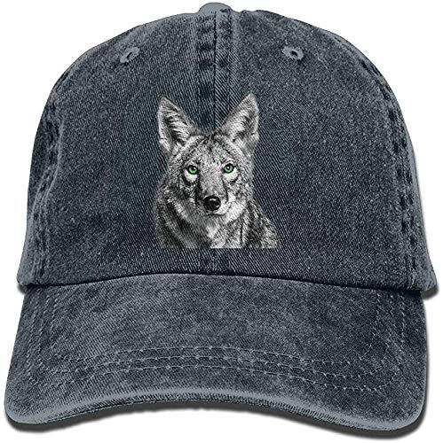 ingshihuainingxiancijies Green Eyed Coyote Snapback Cotton Cap