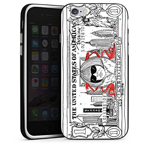 Apple iPhone X Silikon Hülle Case Schutzhülle Geld Dollar Geldschein Silikon Case schwarz / weiß
