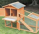 FINCA CASAREJO Conejera para Exterior Fabricada en Madera con Capacidad para 1-3 Conejos - Modelo Borgoña